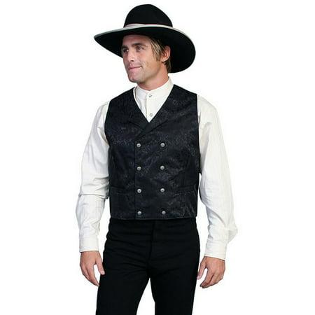 Scully Western Vest Mens Silk Jacquard Formal Dress Button 535344