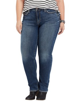 Plus Size Silver Jeans Co. Avery High Rise Straight Leg Jean
