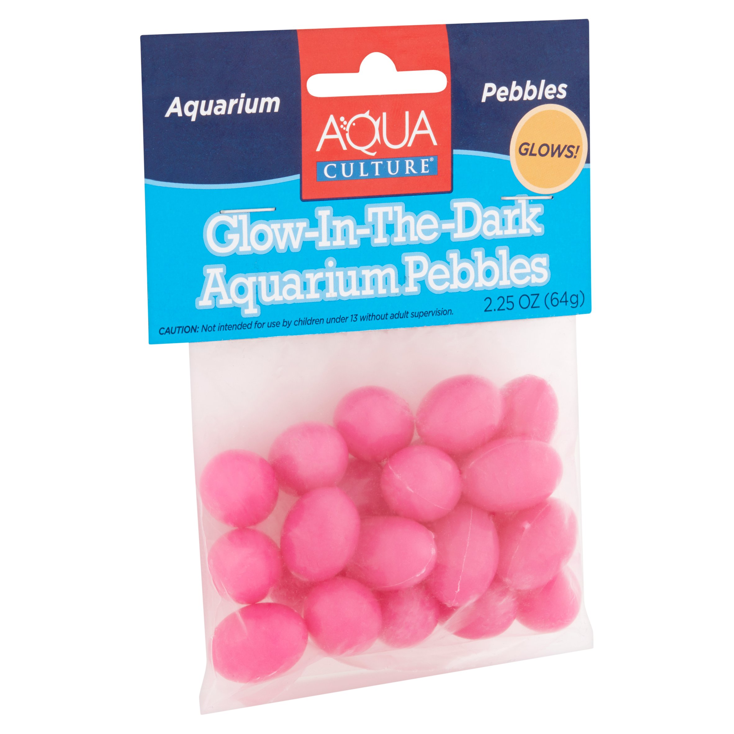 AquaCulture Glow in The Dark Aquarium Pebbles 2 25 oz Walmart