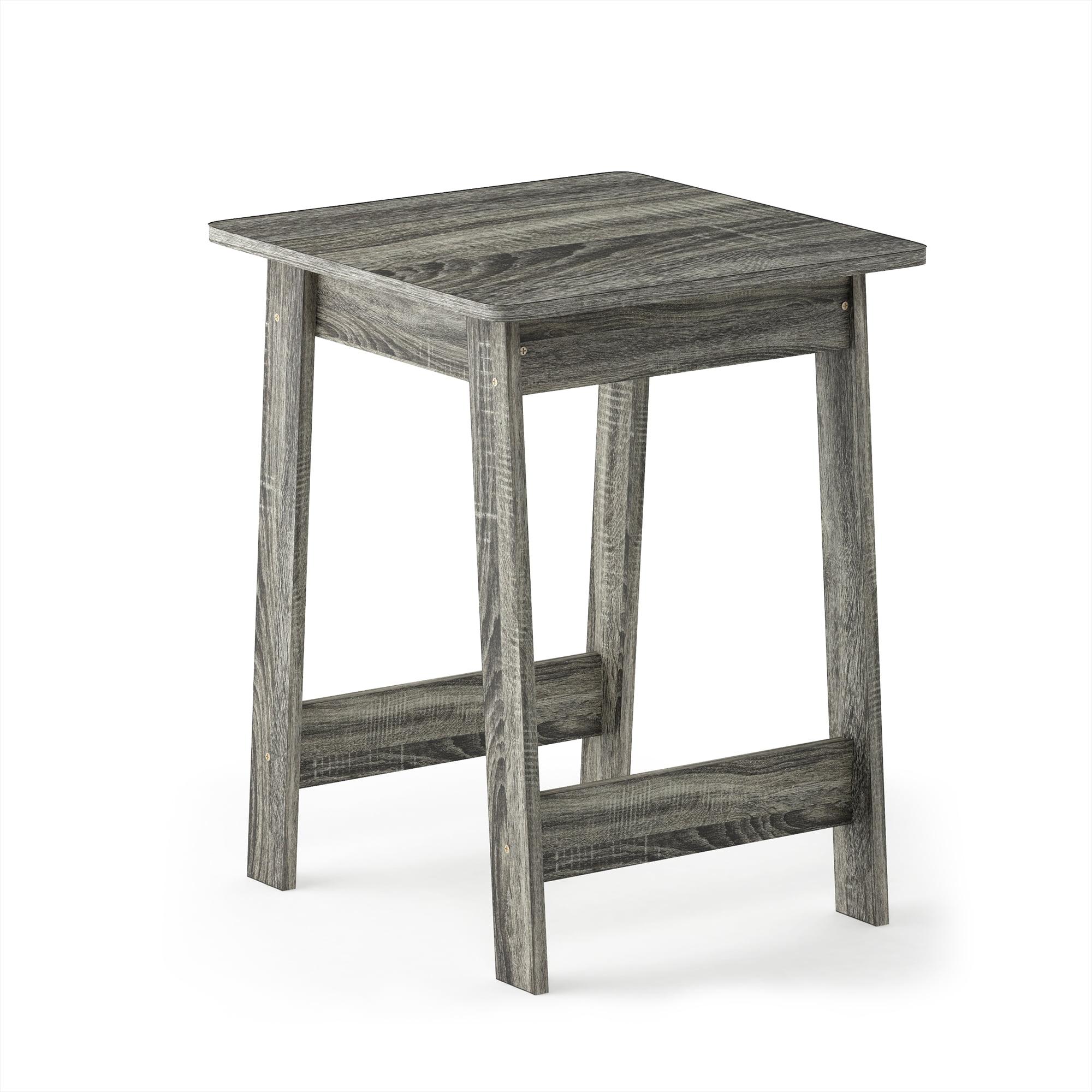 Furinno Beginning End Table, French Oak Grey 18039GYW