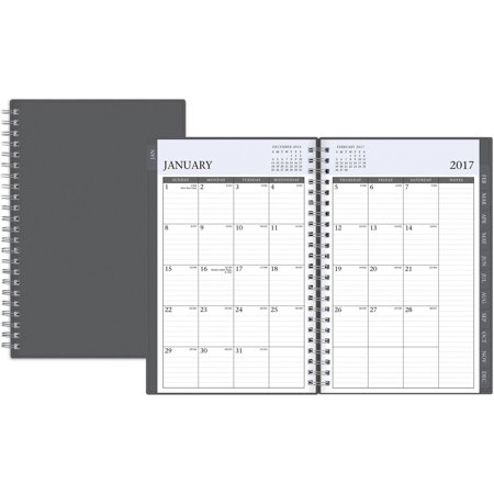 blue sky enterprise black 5 x 8 weekly monthly planner 2017