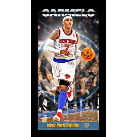 New York Knicks Carmelo Anthony Player Profile Wall Art 9.5x19 Framed Photo