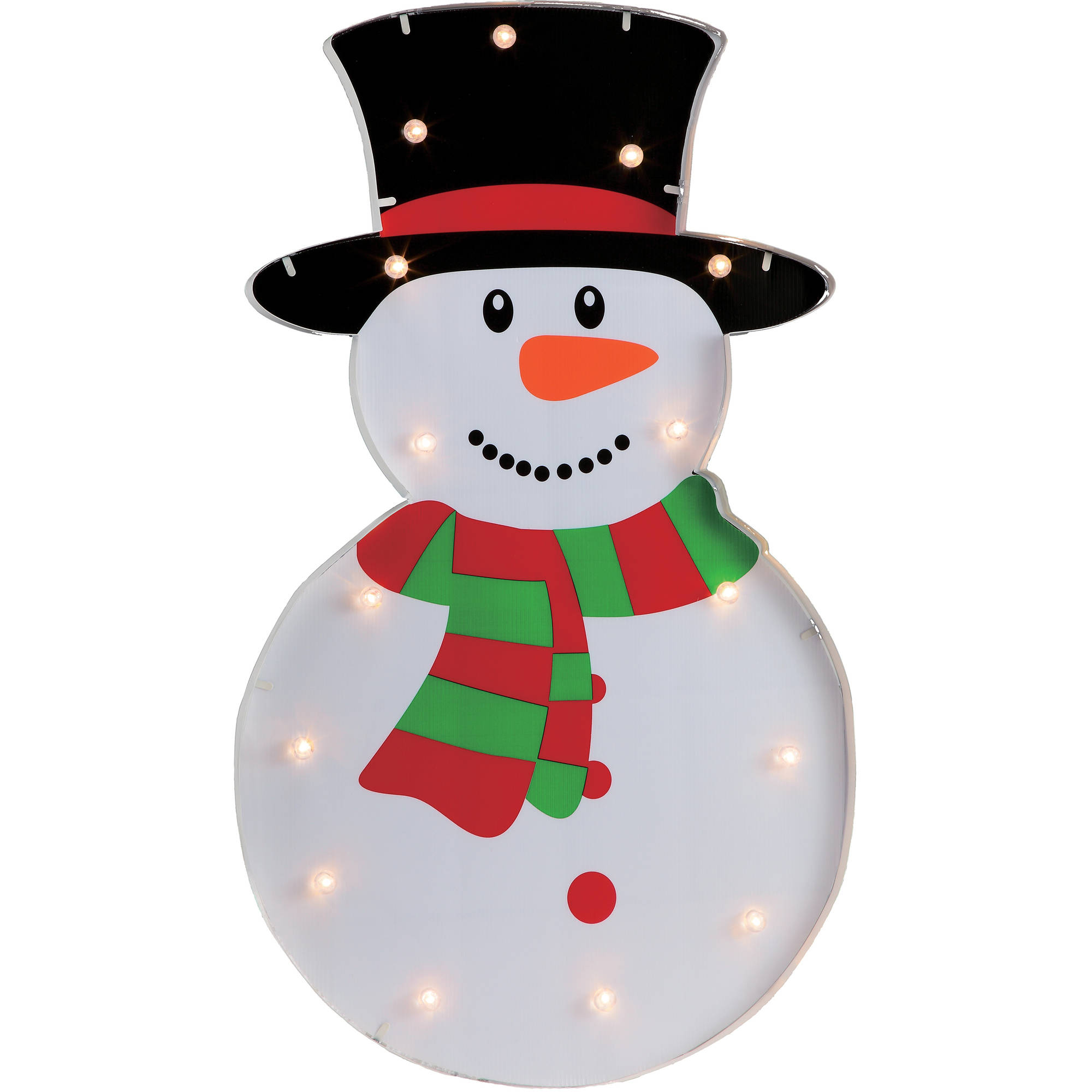 Holiday Time Christmas Decor 36 Marquee Battery Operated Snowman with 15 Warm White LED Lights