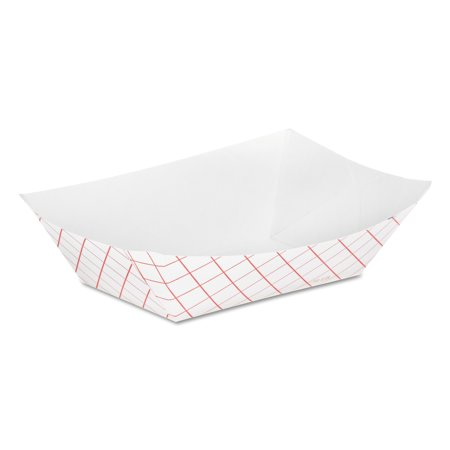 Dixie Kant Leek Clay-Coated Paper Food Tray, 3 3/4 x 1 2/5 x 5 3/10, Red Plaid](Paper Food Trays Walmart)