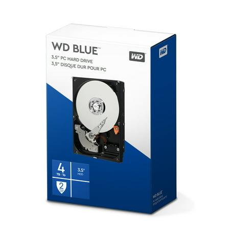 WD Blue 4TB PC Hard Drive - 5400 RPM Class, SATA 6 Gb/s, 64 MB Cache, 3.5u0022 - WDBH2D0040HNC-NRSN