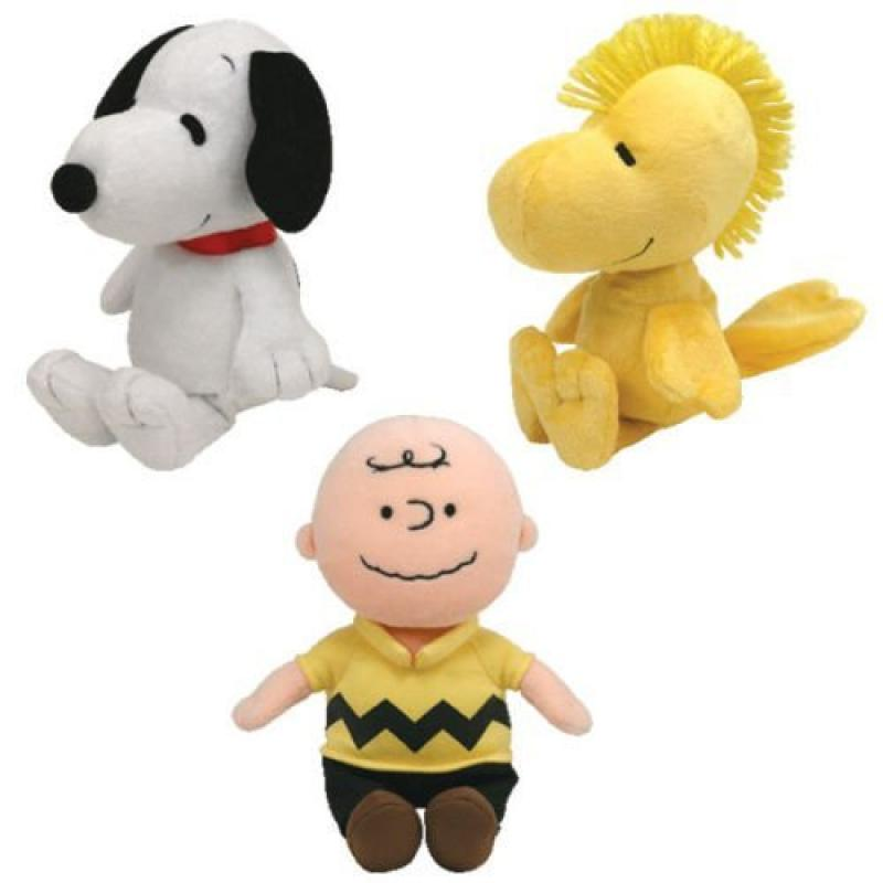 Ty Beanie Babies Peanuts Characters Set Of 3 Charlie Brown