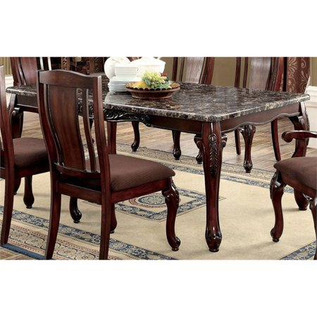 Furniture of America Jamis Dining Table in Brown Cherry