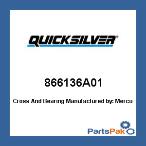Mercury - Mercruiser 866136A01 Mercury Quicksilver 866136A01 Cross And Bearing-