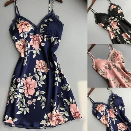 Sexy Ladies Floral Lingerie Sleepwear Women Babydoll Robe Underwear Night Dress - Babydoll Lingerie