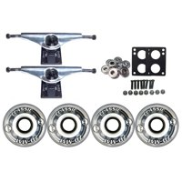 KRYPTONICS CLASSIC Truck Wheel Pack 70mm CLEAR Core 7.0 Silver