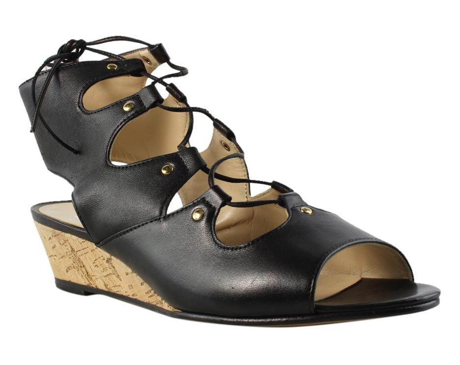 Amalfi Womens PROD43540101 Black Platform & Wedges Sandals Size 7 New by Amalfi