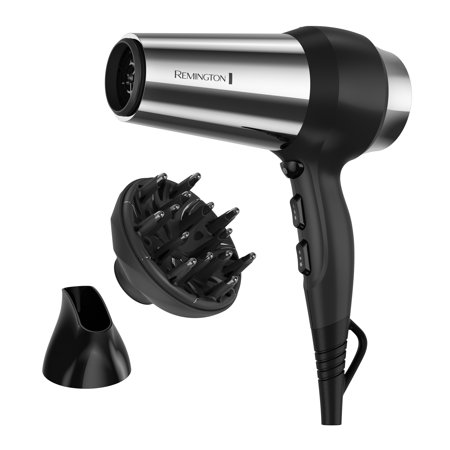 Remington Impact Resistant Ceramic Hair Dryers, Black with Concentrator and Diffuser