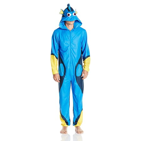 Finding Dory Adult Union Suit Costume Pajama Onesie with Hood - Doby Costume