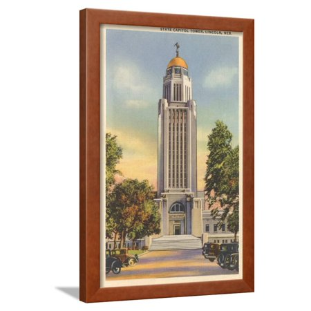 Lincoln State Capitol (State Capitol Tower, Lincoln, Nebraska Framed Print Wall)
