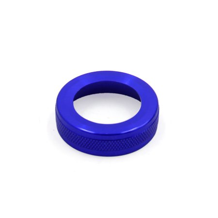 Climate Control Knobs - AC Climate Volume Control Knob Decoration Ring Cover Cap for Mercedes-Benz Blue