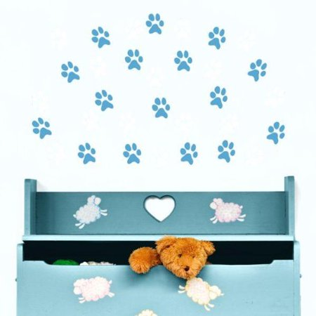 Decal ~ PAW PRINTS ~ 15 LOT: WALL DECAL 3