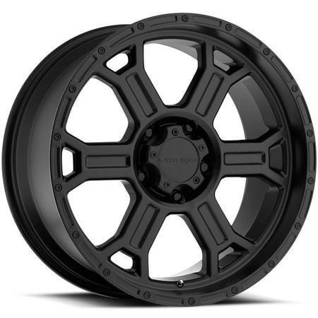 "Vision 372 Raptor 16x8 5x4.75"" +0mm Matte Black Wheel Rim 16"" Inch"