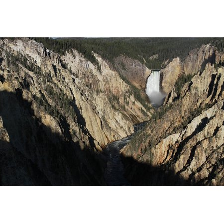 Framed Art for Your Wall Lower Yellowstone Falls Waterfall National Park 10x13 Frame