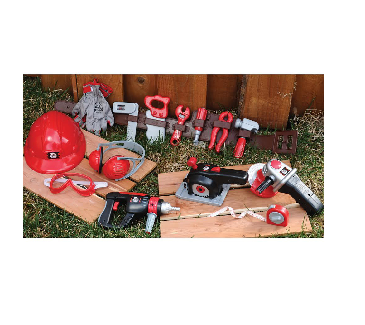 CP Toys Pretend Play Tools of the Trade with Tool Belt and Accessories by