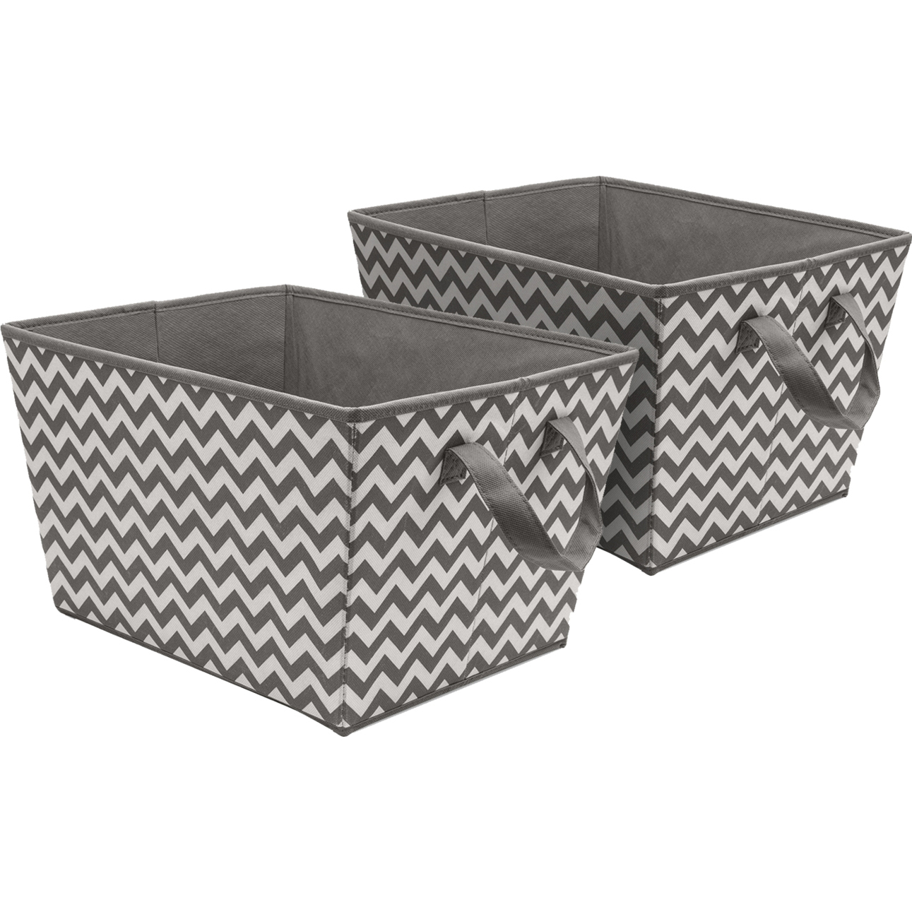 Sorbus Tapered Storage Basket Bins, Chevron Fabric Baskets For Household  Essentials