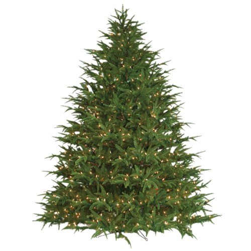 Barcana Belvedere 9' Green Fir Artificial Christmas Tree with 1400 Lights with Stand by