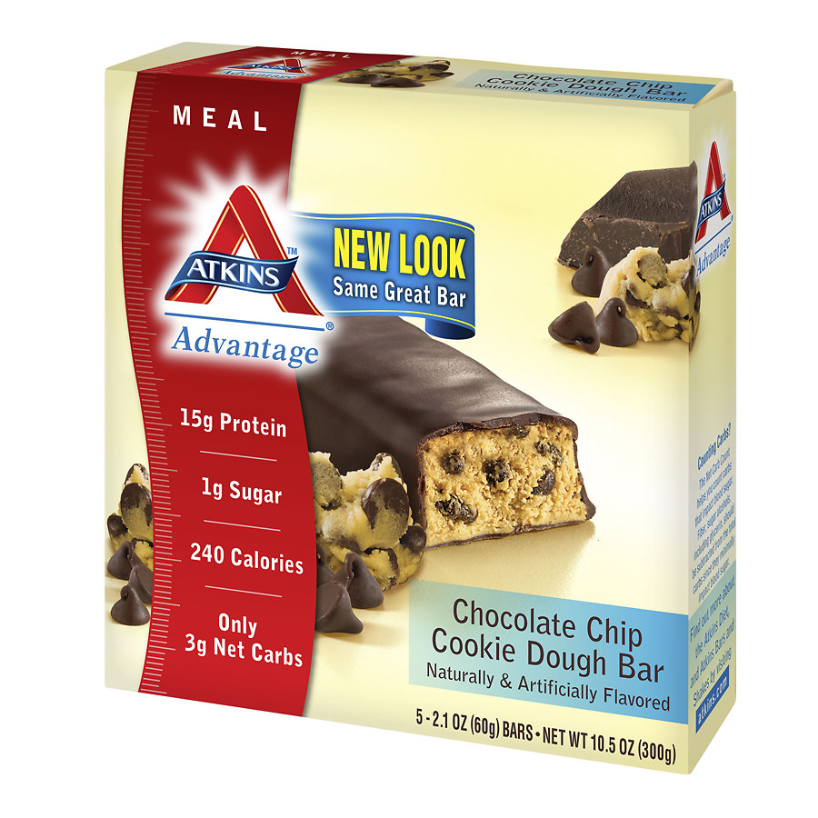 Atkins Advantage Meal Bars Chocolate Chip Cookie Dough2.1 oz. x 5 pack(pack of 1)