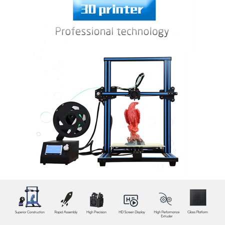 3D Printer DIY Kit High Precision Rapid Self-Assembly 3.2 Inch Screen Large Print Size 300 * 300 * 400mm with SD Card Off-line