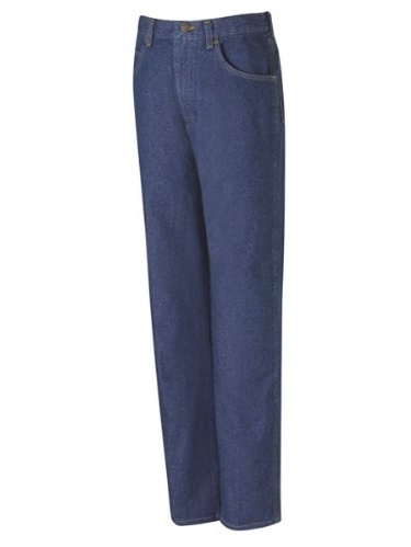 PD60 Men's Relaxed Fit Jean Prewashed Indigo 28W x Unhemmed