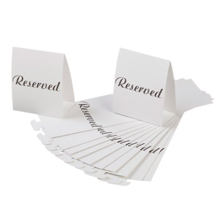 Reserved Table Tent Card 13X.25X4 12Pcs