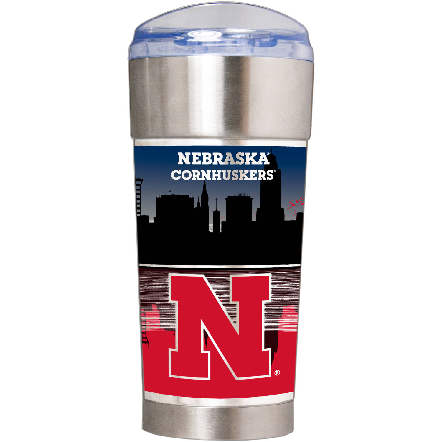 "NCAA Nebraska Cornhuskers ""The EAGLE"" 24 oz Vacuum Insulated Stainless Steel Party Cup"