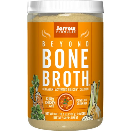 Jarrow Formulas Beyond Bone Broth Collagen + Activated Silicon, Curry Chicken, 10.8