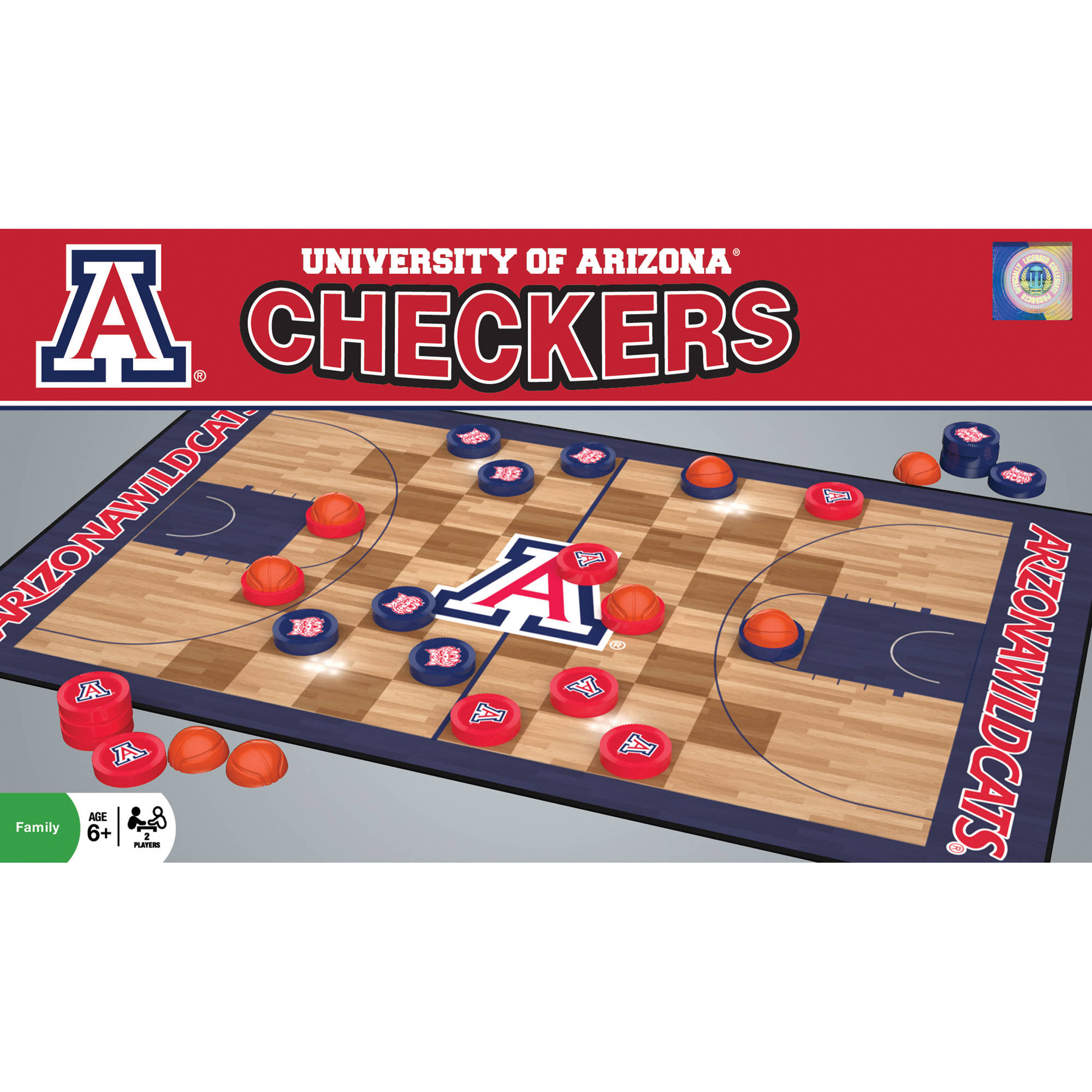 MasterPieces NCAA Arizona Basketball Checkers Game
