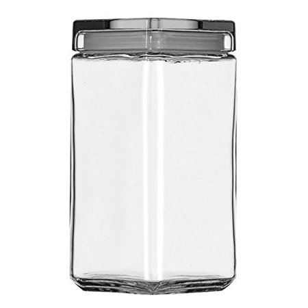 2.5 Quart Glass - 2.5 Quart Stackable Glass Jar with Lid, Narrow and uniform, these airtight jars will keep you contents fresh longer, great for your pasta, cereal, coffee, and so much more...., By Anchor Hocking