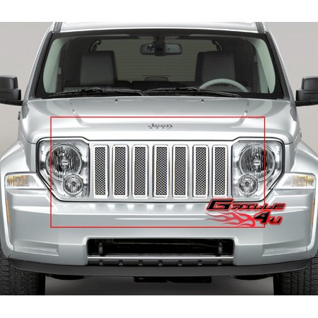 Compatible with 08-11 2011 Jeep Liberty Stainless Mesh Grille Insert J75551T
