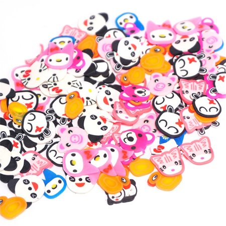BEAD BEE 50PCS Colorful DIY 3D FIMO Slice Face Decoration for Homemade Slime Making Craft](Homemade Arts And Crafts For Halloween)