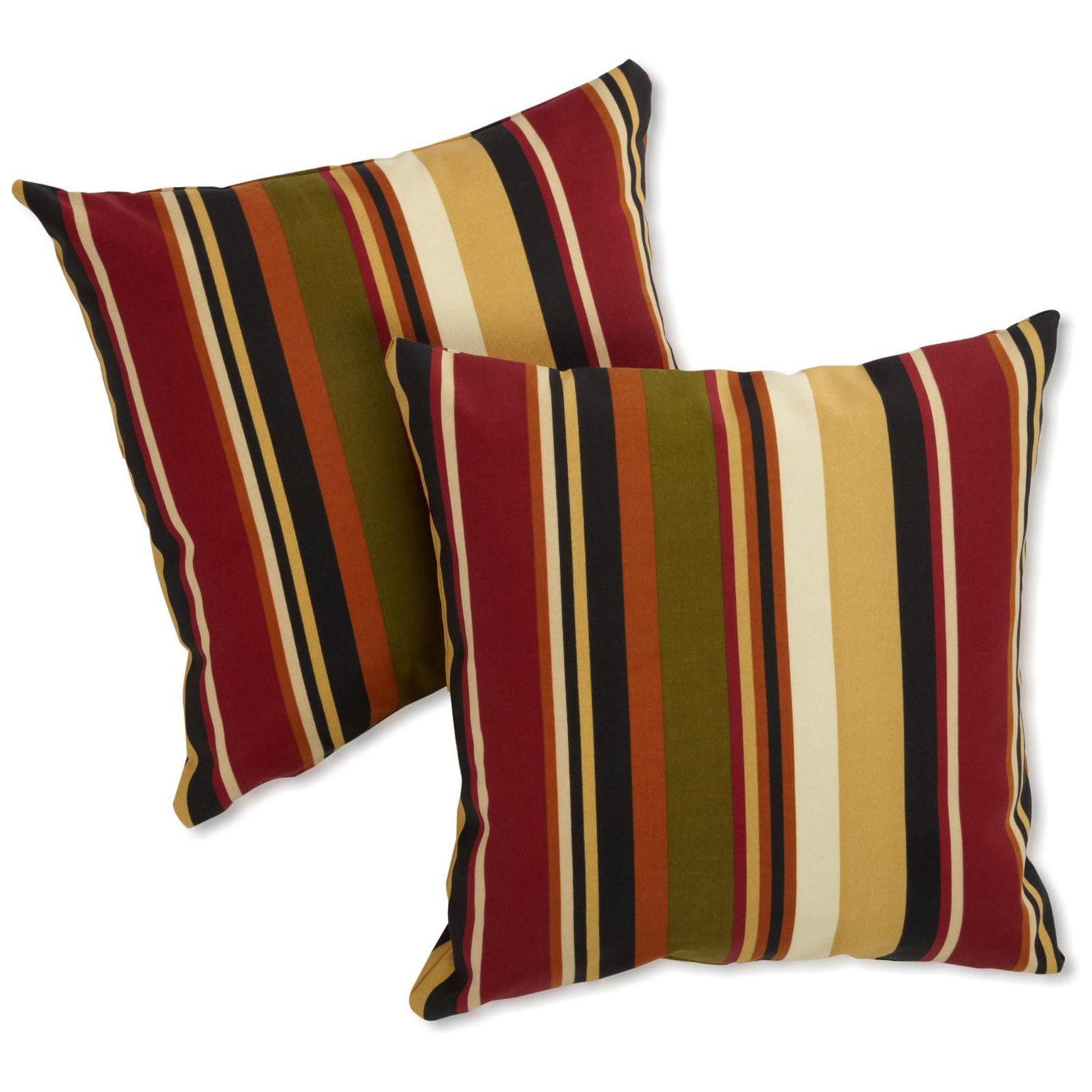 Blazing Needles 25 x 25 in. Jumbo Outdoor Throw Pillows - Set of 2