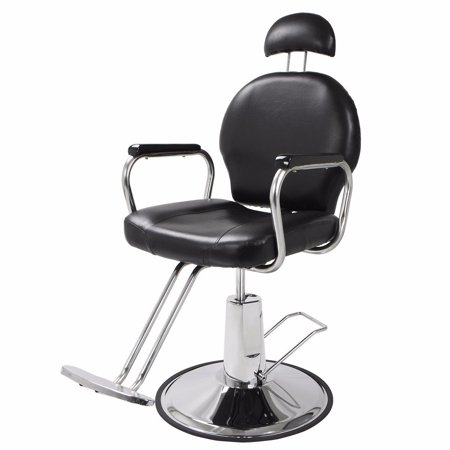 Sensational Zimtown Reclining Hydraulic Barber Chair Heavy Duty Classic All Purpose Barbershop Black Chair With Headrest Salon Styling Beauty Spa Shampoo Lamtechconsult Wood Chair Design Ideas Lamtechconsultcom