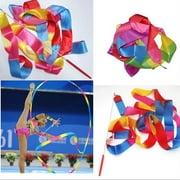 4M Gym Dance Ribbon Rhythmic Art Gymnastic Ballet Streamer Twirling Rod