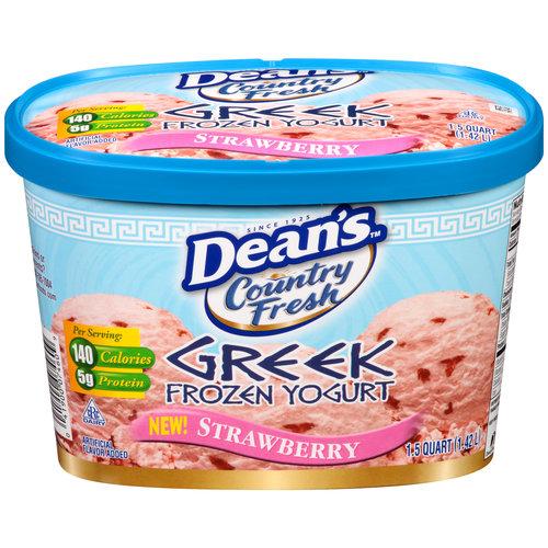 Dean's Country Fresh Strawberry Greek Frozen Yogurt, 1.5 qt