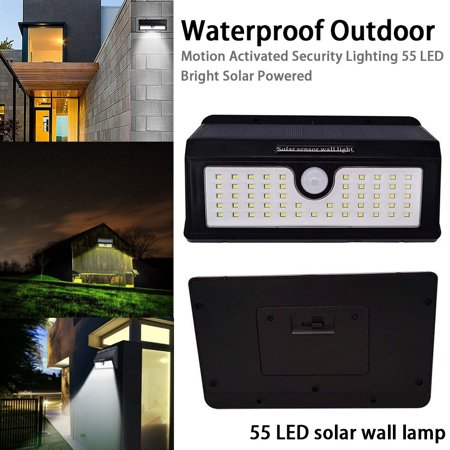 AIHOME Waterproof Outdoor Motion Activated Security Lighting 55 LED Bright Solar Powered Light for Patio, Deck, Yard, Garden - image 1 of 9