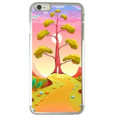 Image Of Pathway Leading To A Tree In A Surreal Pink Landscape Apple Iphone 6 Plus   6S Plus Clear Phone Case