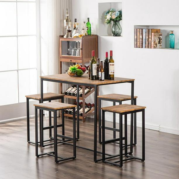 zimtown 5piece dining table set bar pub table set