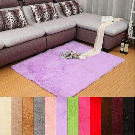 48''x32'' , 36''x24'' Soft Fluffy Floor Rug Anti-skid Shaggy Area Rug Bedroom Living Dining Room Carpet Yoga Floor Warm Mat Child Play Mat