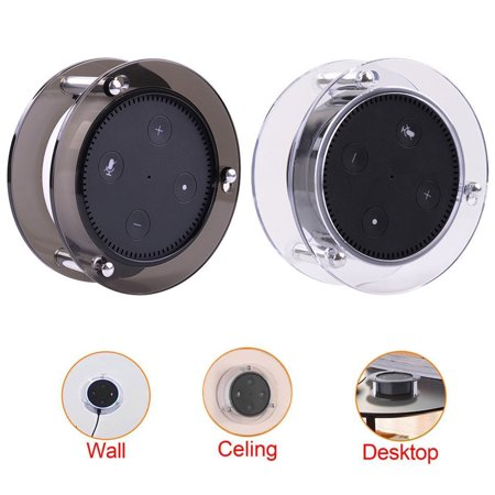 Acrylic Speaker Stand,Ceiling Wall Mount Protective Stand for Amazon Echo Dot (2nd Generation) Smart Home Décor Guard Station For Alexa 1-Piece (Random Color:Black/Clear)