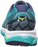 Mizuno Running Women's Wave Horizon Shoes, Tile Blue/Safey Yellow/Peacoat, 7.5 B US