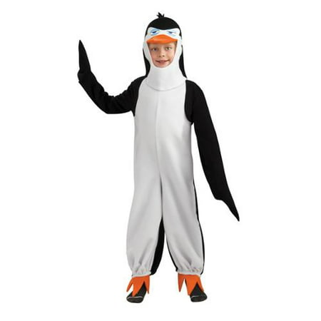 Penguins Of Madagascar Deluxe Penguin Rico Costume Child - Madagascar Costumes