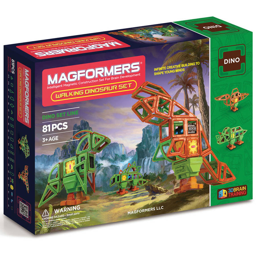 MagFORMERS Walking Dinosaur 81-Piece Magnetic Construction Set by Magformers