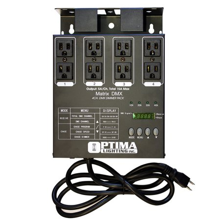 MATRIX DMX 4 Channel Double Output DMX Dimmer Pack Dimmer Pack 12 Channels