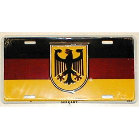 - Germany Flag with Eagle License Plate