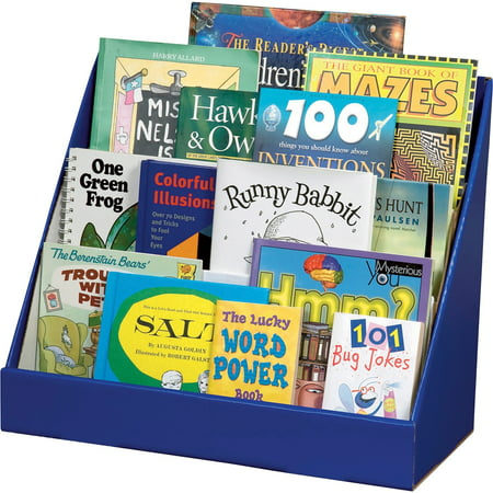 Childrens Book Rack (Classroom Keepers Kids Book Rack, 3-Tier, Blue with Glossy Finish )